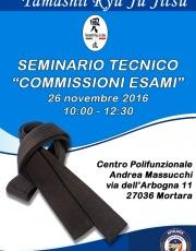 Seminario ed esami Sabato 26 Novembre 2016 a Mortara PV.